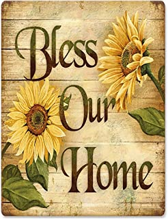 Sehaz Artworks 'Bless Our Home' Rust Looks Wall Sign for Wall Decoration Feel Like Tin Sign (MDF, 30 cm x 20 cm x 0.3 cm)
