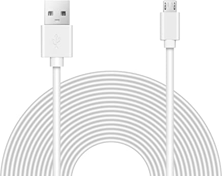 25ft Power Extension Cable for Wyze Cam, Blink, Yi, Oculus Go, Drop Cam, and More.