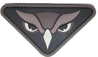 Owl Head PVC Patch (SWAT (Black))