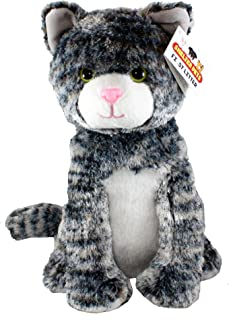 "Shelter Pets Series One: Tig The Cat - 10"" Gray Tabby Plush Toy Stuffed Animal - Based on Real-Life Adopted Pets - Benefiting The Animal Shelters They were Adopted from"