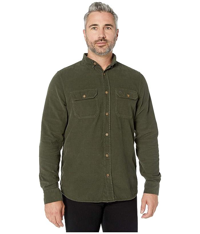 Men's Vintage Workwear Inspired Clothing Fjallraven Ovik Cord Shirt Deep Forest Mens Clothing $94.95 AT vintagedancer.com