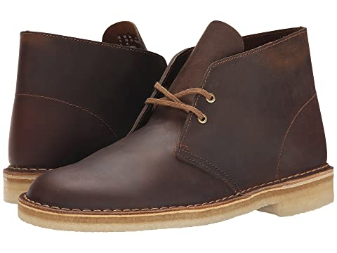 Clarks Split Toe Chukka Desert Men's 10.5 M Brown Leather Ankle Boots Shoes