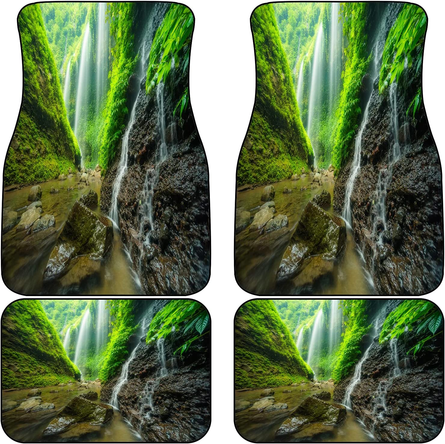 VINISATH Front Rear Car Mats Set of Cheap OFFicial store sale Waterfalls Valley Side 4 i