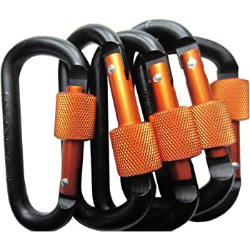 Nonlocking D-Ring Carabiners for Hammock 2698 lbf. Hiking and Camping 4 Pack SUKCESO Carabiner Clips 7075 Aluminum Alloy 12kN Keychain