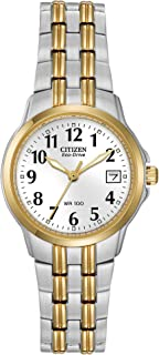 Watches EW1544-53A Eco-Drive Silhouette Sport Two-Tone Watch