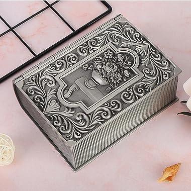 Uxsiya Jewellery Organiser Metal Retro Jewelry Storage Box for Beauty for Home Decoration for Bracelets, Earrings