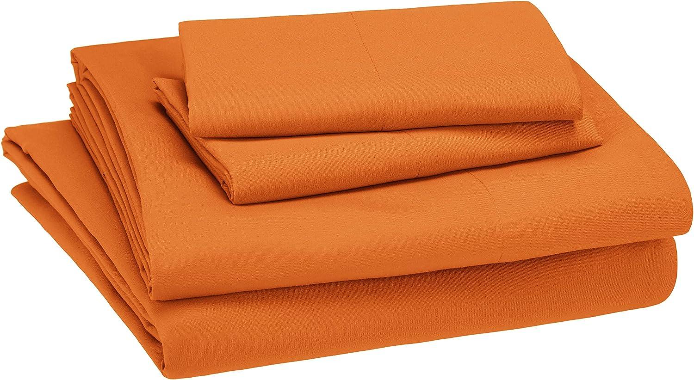 Amazon Basics Kid's Orange Sheet Set