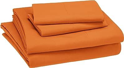 AmazonBasics Kid's Sheet Set - Soft, Easy-Wash Microfiber - Full, Bright Orange