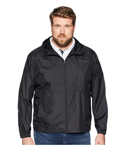 Columbia Big Tall Flashbacktm Windbreaker (Black/Black) Men