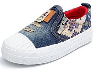Alexis Leroy Boys Denim Canvas Pixel Slip On Sneaker