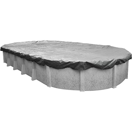 Amazon Com Robelle 331833 4 Platinum Winter Pool Cover For Oval Above Ground Swimming Pools 18 X 33 Ft Oval Pool Swimming Pool Covers Garden Outdoor