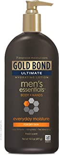 Gold Bond Men's Everyday Essentials Lotion, 14.5 Ounce Men's Lotion for Body and Hands