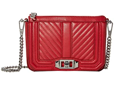 Rebecca Minkoff Chevron Quilted Mini Love Shoulder (Paprika) Handbags