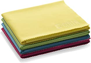 E-Cloth Glass & Polishing Microfiber Cleaning Cloth, 4 Pack, Assorted Colors