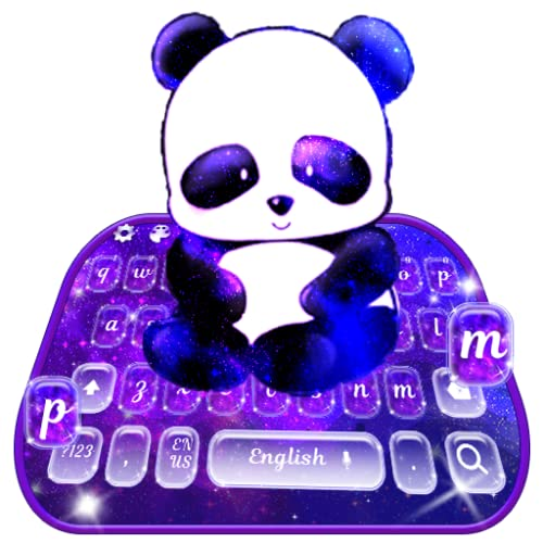 Cute Panda Galaxy Keyboard Theme