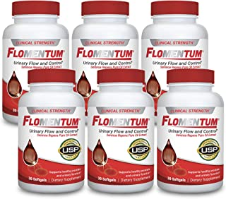 Flomentum® Men's Health Prostate Supplement – Supports Healthy Urinary Function – Clinical Strength - USP Verified (180 Count)