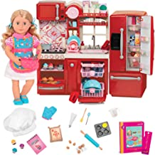 Our Generation Deluxe Jenny Doll with Gourmet Kitchen Set & Book