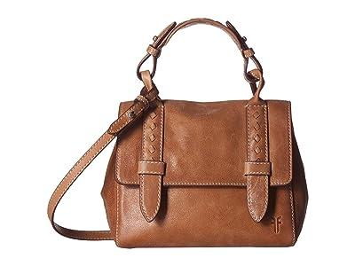 Frye Reed Mini Flap Satchel (Tan) Handbags