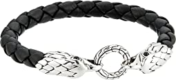 Legends Eagle Double Head 8mm Bracelet and Black Leather
