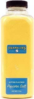 Butter Flavored Popcorn Salt by Franklin's Gourmet Popcorn. Extra Large 19 oz Bottle.
