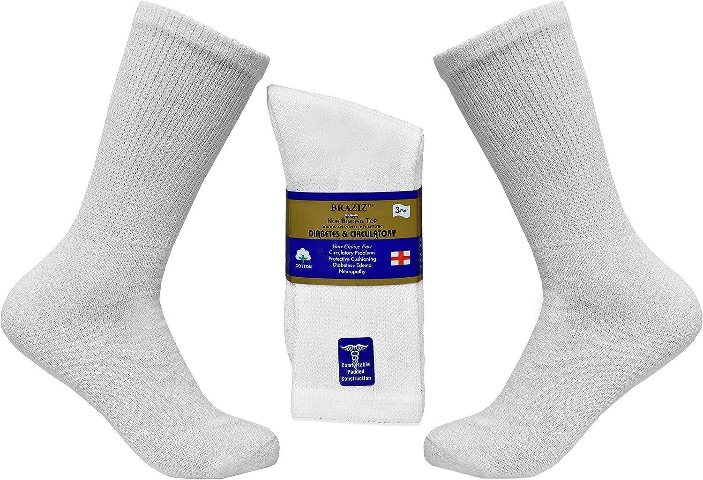 Braziz Gorgeous Diabetic Socks 12 Pairs Selling Breathable Soft Di Premium Cotton