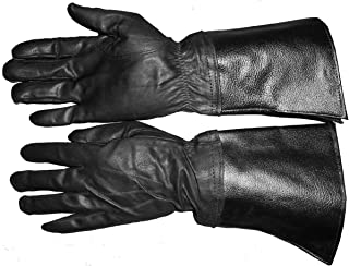 Genuine Leather Motorcycle Bike Riding Russian Gloves.