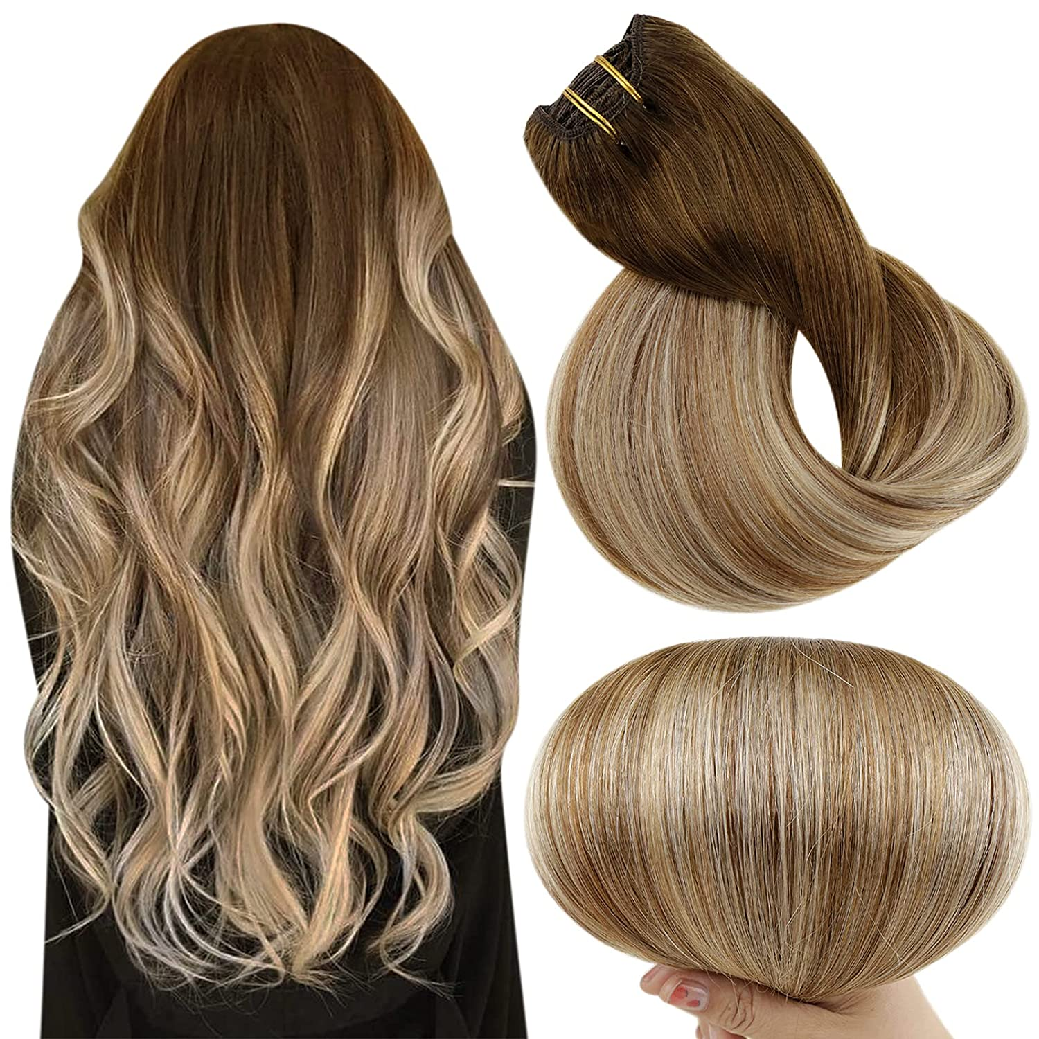Full Shine Balayage Clip in specialty shop Extensions Hair Extensi 18 Ranking TOP4 Inch