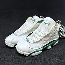 Pair Air Jordan XIII 13 Retro Sugar Ray Pe Green OG Sneakers Shoes 3D Keychain 1:6 Figure