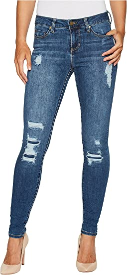 Abby Skinny with Destruct Detail in Vintage Super Comfort Stretch Denim in Smithtown Destruct