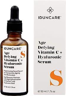 Iduncare Sérum Facial Vitamina C & Ácido Hialurónico - Sérum Antiedad con Efecto Antiarrugas Hidratante e Iluminador - Me...