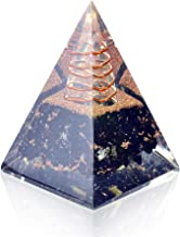 Orgone Pyramid-Black Tourmaline-Crystal-Chakra Balancing Orgone Energy Generator- Nubian Orgonite Pyramid f...
