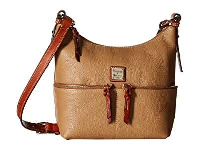 Dooney & Bourke Pebble Alyssa Crossbody (Desert/Tan Trim) Cross Body Handbags