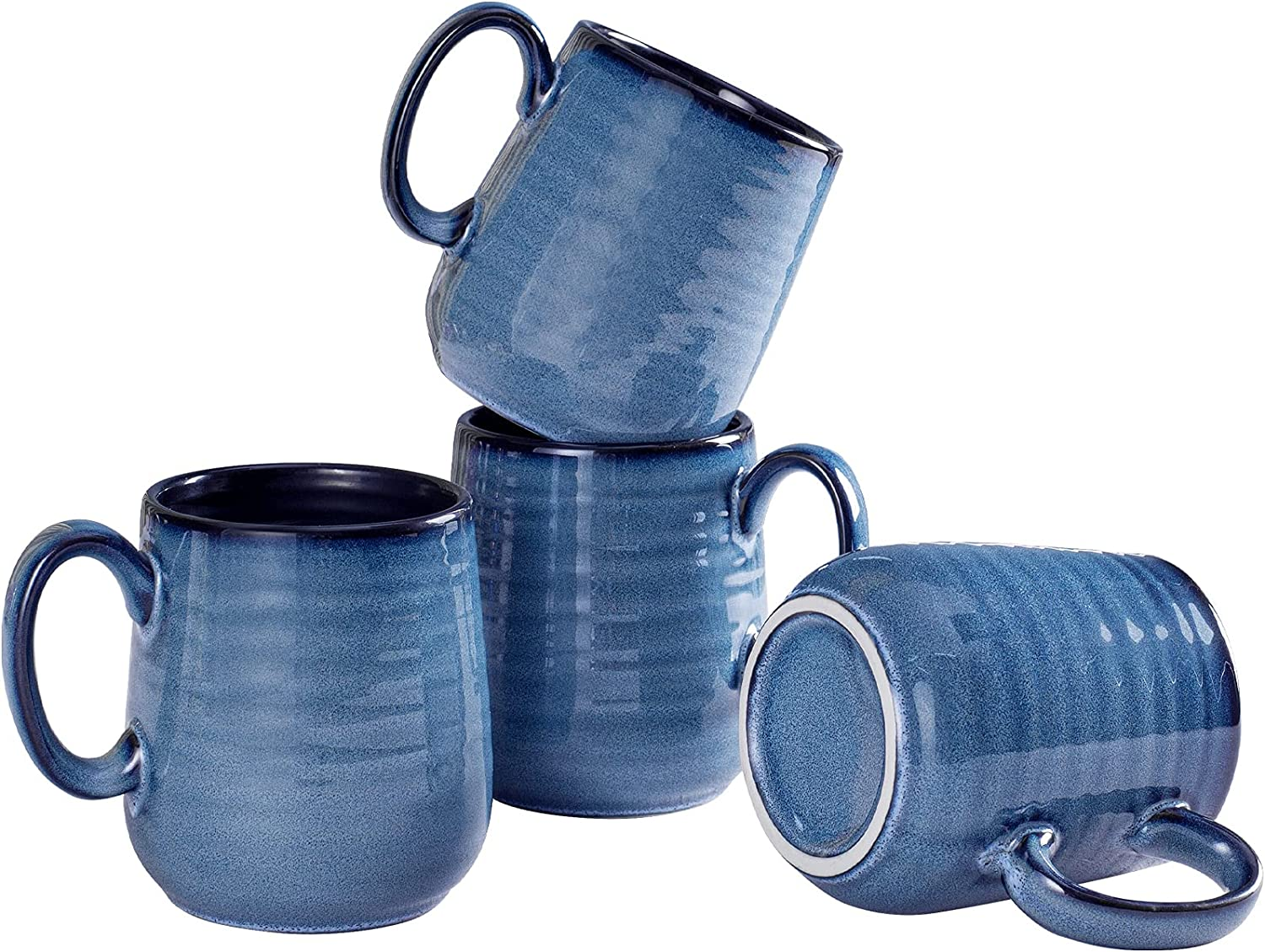 Max 60% OFF Hasense Ceramic Coffee Mug Set of Factory outlet 4 Cups 12oz