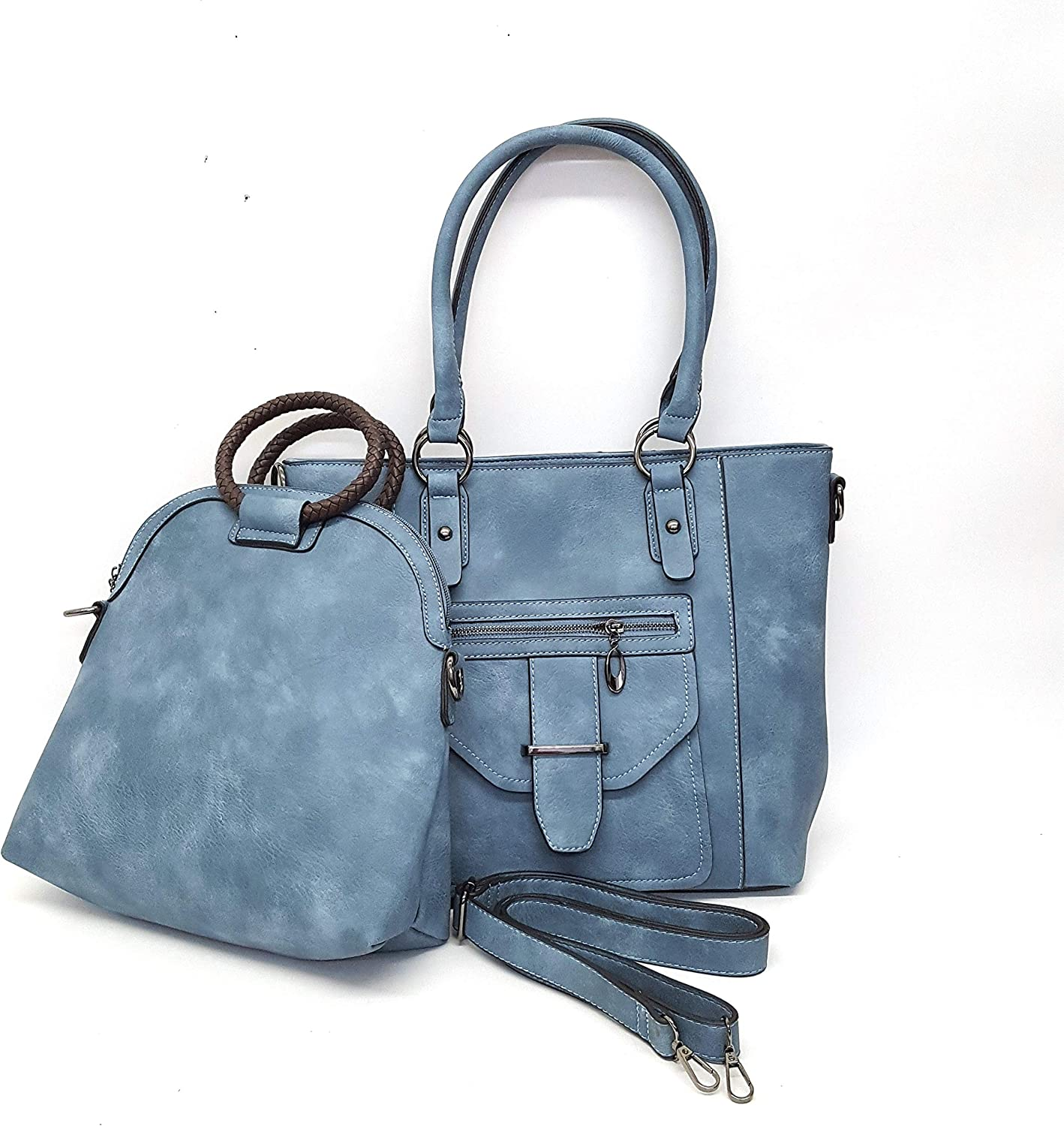 2 Piece Tote Set Denim