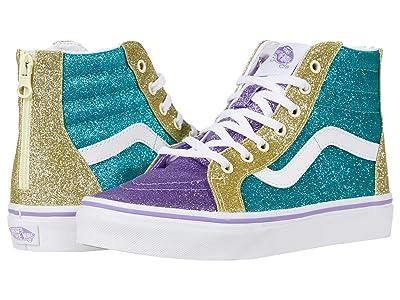 Vans Kids SK8-Hi Zip (Big Kid) ((Mermaid Glitter) Color-Block) Girls Shoes
