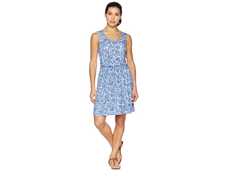 White Sierra Tangier Odor Free Printed Dress (Blue Violet) Women
