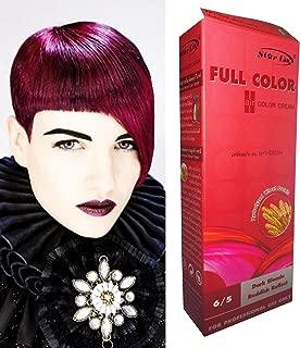 Premium Permanent Hair Color Cream Dye Dark Blonde Red Reflect Punk Goth 6/5 by Starlist