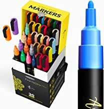 Paint pens for Rock Painting, Stone, Ceramic, Glass, Wood, Canvas. DIY Craft-Making Supplies. Set of 30 Acrylic Paint Mark...