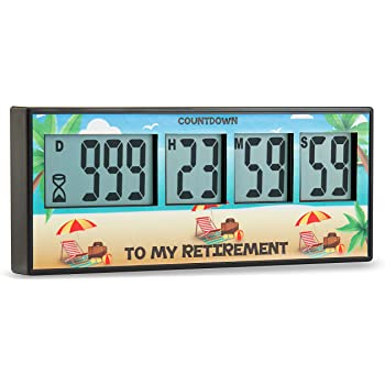 Vacations by Cirbic Project 999 Days Timer Countdown for Retirement Stainless Steel