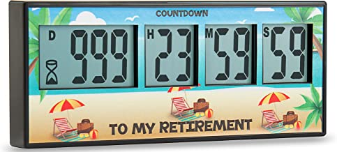 Retirement Timer up to 999 days, countdown and alarm by Cirbic (Retirement)