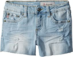 AG Adriano Goldschmied Kids - The Shelby Fray Shorts w/ Raw Hem in Seaport (Big Kids)