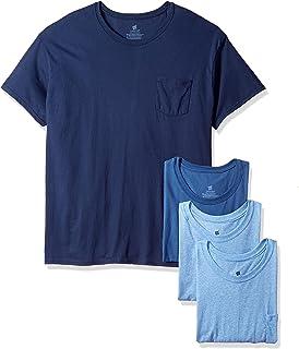 Hanes Men's FreshIQ Odor Control 4-Pack Pocket Crew T-Shirt