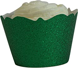 All About Details Green Glitter Cupcake Wrappers, Set of 12