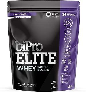 BiPro Elite Whey Isolate Protein Powder, Chocolate, 2 Pound