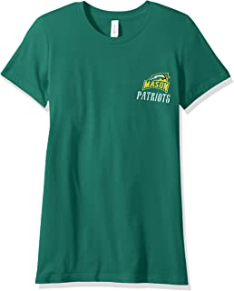 NCAA George Mason Patriots Women's Double Pattern Scroll Favorite Short sleeve T-Shirt, Large,Kelly