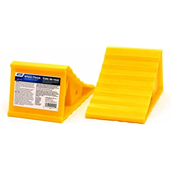 Amazon Com Camco Fasten 4x2 Leveling Block For Dual Tires Interlocking Design Allows Stacking To Desired Height Includes Secure T Handle Carrying System Yellow Pack Of 10 44515 Automotive