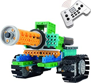 4 in 1 Robotic Kit, Remote Control Building Blocks, AMGlobal 237 Pcs Remote Control Building Kits, Remote Control Machine Educational Learning Robot KIts for Kids Children For Fun (237 Pcs)
