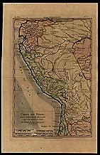 South America Peru Quito 1780 Bonne interesting detailed map