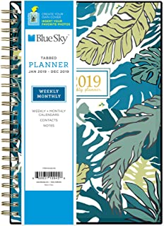 Blue Sky 2019 Weekly & Monthly Planner, Flexible Cover, Twin-Wire Binding, 5
