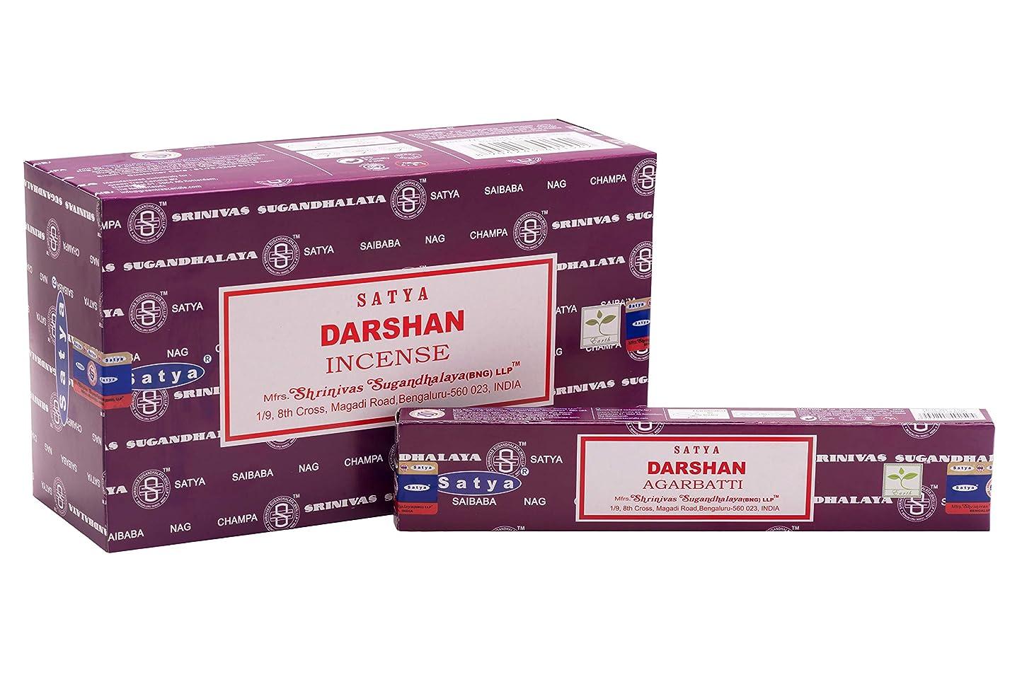 ドライバ追跡メダリストSatya Bangalore (BNG) Darshan お香スティック 12箱 x 15グラム (合計180グラム)